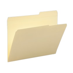 Smead® Reinforced Tab Guide-Height File Folders, Letter Size, 2/5 Cut, Right Position, Manila, Box Of 100