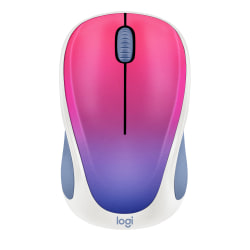 Logitech® Design Collection Wireless Mouse, Blue Blush, 910-005840