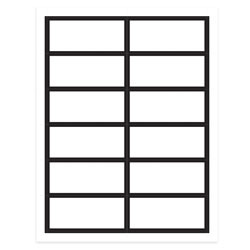 "Gartner Studios® Place Cards, White With Black Border, 4"" x 3"", Pack Of 48"
