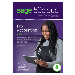 Sage 50cloud Pro Accounting 2020 U.S. One Year Subscription (Windows)