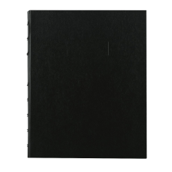 """Blueline® MiracleBind 50% Recycled Notebook, 9 1/4"""" x 7 1/4"""", 75 Sheets, Black"""
