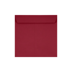 """LUX Square Envelopes With Peel & Press Closure, 7 1/2"""" x 7 1/2"""", Garnet Red, Pack Of 500"""