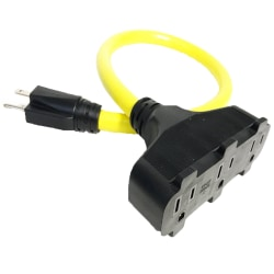Hoffman Grounded Outdoor Extension Cord, 2', Yellow, USW76002