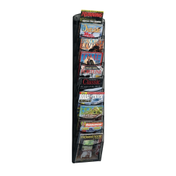 Safco® 10-Pocket Mesh Magazine Rack, Black