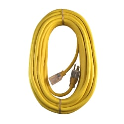 Hoffman Grounded Outdoor Extension Cord, 50', Yellow, USW68050