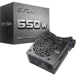 EVGA 650W Power Supply - Internal - 120 V AC, 230 V AC Input - 650 W / 3.3 V DC, 5 V DC, 12 V DC, 5 V DC, -12 V DC - 1 +12V Rails - 1 Fan(s)