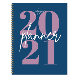 """TF Publishing Large Academic Weekly/Monthly Planner, 8-1/2"""" x 11"""", Big Blue Year, July 2020 To June 2021"""