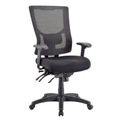 Lorell® Conjure Executive High-Back Mesh Chair, Black