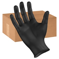 Boardwalk Disposable Nitrile General-Purpose Gloves, Powder-Free, X-Large, Black, Box Of 100 Gloves