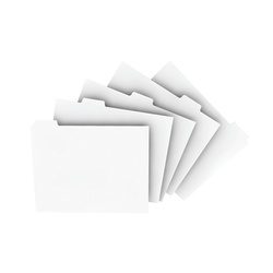 "Xerox® Revolution™ Index Tabs, 9"" x 11"", White, 250 Sheets Per Pack, Case Of 5 Packs"