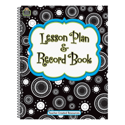 Teacher Created Resources Crazy Circles Lesson Plan And Record Books, Black/White, Pack Of 2