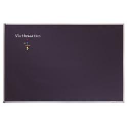 "Quartet® Education Magnetic Porcelain Chalkboard, 48"" x 36"", Black Aluminum Frame"