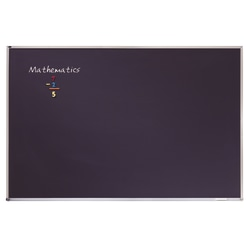 "Quartet® Education Magnetic Porcelain Chalkboard With Aluminum Frame, 48"" x 36"", Black"