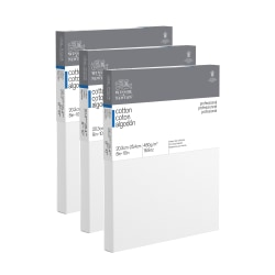 """Winsor & Newton Professional Cotton-Stretched Traditional Canvases, 8"""" x 10"""", White, Pack Of 2"""