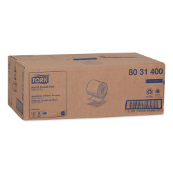 """Tork Universal Hand Towel Roll, 8"""" x 10"""", White, 96 Sheets Per Roll, Case Of 6 Rolls"""