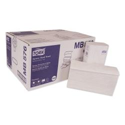 "Tork 2-Ply Premium Multifold Towels, 10-1/8"" x 10-13/16"", White, 135 Sheets Per Pack, Carton Of 16 Packs"