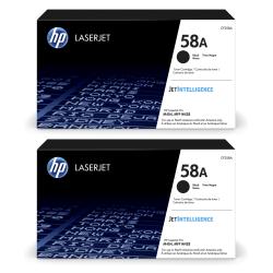 HP LaserJet 58A Black Toner Cartridges (CF258A), Pack Of 2 Cartridges