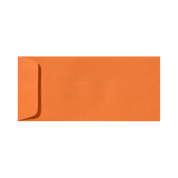 "LUX Open-End Envelopes With Peel & Press Closure, #10, 4 1/8"" x 9 1/2"", Mandarin Orange, Pack Of 250"