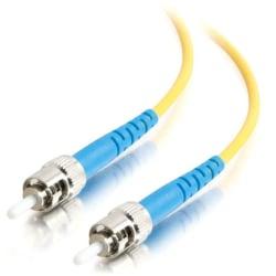 C2G 20m ST-ST 9/125 OS1 Simplex Singlemode PVC Fiber Optic Cable - Yellow - 20m ST-ST 9/125 Simplex Single Mode OS2 Fiber Cable - Yellow - 65ft