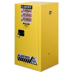 Yellow Countertop & Compact Cabinets, Manual-Closing Cabinet, 15 Gallon