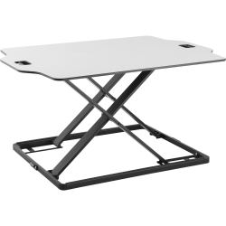 "Amer Mounts Ultra Slim Height Adjustable Standing Desk- White Finish - 22.05 lb Load Capacity - 15.7"" Height x 21.3"" Width - Desktop - Steel, Board, Plastic, Iron - White"