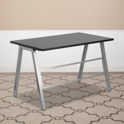 Flash Furniture High Profile Contemporary Laminate Desk, Black
