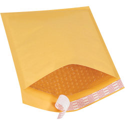 """Office Depot® Brand Kraft Self-Seal Bubble Mailers, #2, 8 1/2"""" x 12"""", Pack Of 100"""
