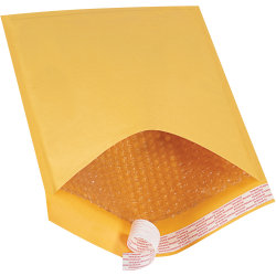 "Office Depot® Brand Kraft Self-Seal Bubble Mailers, #5, 10 1/2"" x 16"", Pack Of 100"