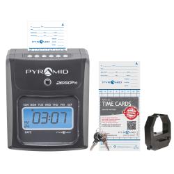 "Pyramid™ 2650Pro 6-Column Top Loading Time Clock, 8.5"" x 7.25"" x 5"", Charcoal"