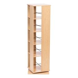 "IRIS 55""H 5-Tier Revolving Bookshelf, Light Brown"