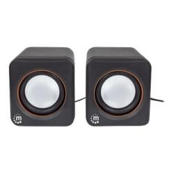 Manhattan USB Stereo Speaker System - Self-powered USB speaker system