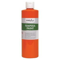 Handy Art 16 oz. Premium Tempera Paint - 16 fl oz - 1 Each - Orange