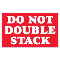 """Tape Logic® Preprinted Shipping Labels, SCL613, """"Do Not Double Stack,"""" 3"""" x 5"""", Red/White, Pack Of 500"""