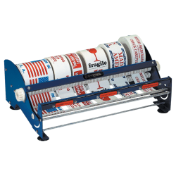 "Multi-Roll Tabletop Label Dispenser, 18"", Blue"