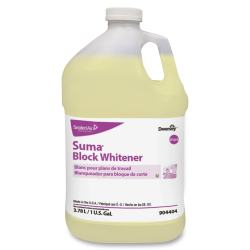 Diversey Suma Block Whitener - Ready-To-Use Liquid - 128 fl oz (4 quart) - Chlorine Scent - 4 / Carton - Yellow
