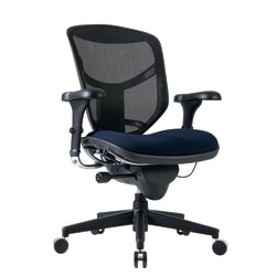 WorkPro® Quantum 9000 Ergonomic Mesh/Fabric Mid-Back Manager's Chair, Navy/Black