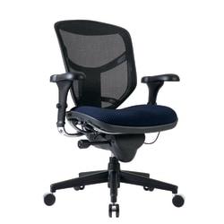 WorkPro® Quantum 9000 Series Ergonomic Mesh/Fabric Mid-Back Chair, Navy/Black