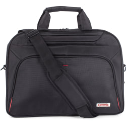 "Swiss Mobility Carrying Case (Briefcase) for 15.6"" Notebook - Black - Bump Resistant Interior, Scratch Resistant Interior - Handle - 17"" Height x 2.5"" Width x 12"" Depth"