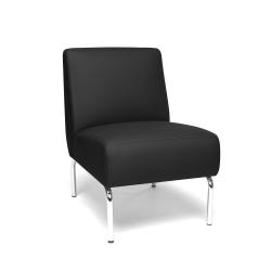 OFM Triumph Series Armless Lounge Chair, Black/Chrome