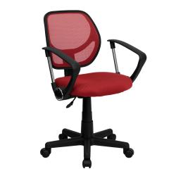 Flash Furniture Mesh Low-Back Swivel Task Chair, Red/Black