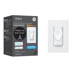 GE C On/Off Dimmer Switch And Motion Sensor, White