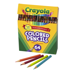 Crayola® Kids' Color Choice Short Color Pencil Set, Box Of 64
