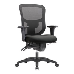 WorkPro® 9500XL Series Big And Tall Mesh/Fabric Mid-Back Multifunction Office Chair, Gray/Black