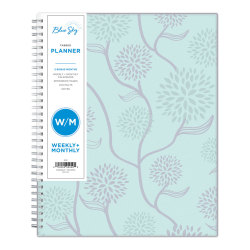 """Blue Sky™ Polypropylene Weekly/Monthly Planner, 8-1/2"""" x 11"""", Rue Du Flore, January to December 2021, 101602"""