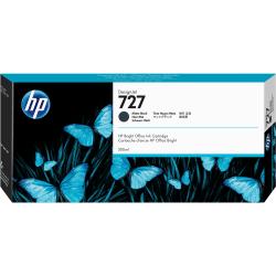 HP 727 High-Yield Matte Black Ink Cartridge (C1Q12A)