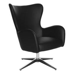 Office Star™ Wilma Swivel Arm Chair, Black