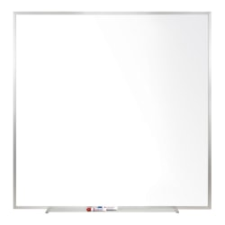 "Ghent Magnetic Dry-Erase Whiteboard, 48 1/2"" x 48 1/2"", Satin Silver Aluminum Frame"