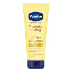 Vaseline Intensive Care Essential Healing Daily Body Lotion, 3.4 Oz, Pack Of 12 Tubes