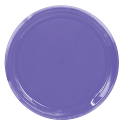 """Amscan Round Plastic Platters, 16"""", New Purple, Pack Of 5 Platters"""