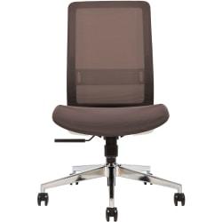 Sinfonia Sing Ergonomic Mesh Mid-Back Task Chair, Armless, Black/White